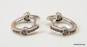 d5c737afe Image is loading NEW-TAGS-AUTHENTIC-PANDORA-EARRINGS-ALLURING-HEARTS-HOOPS-