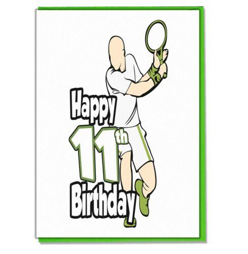 Son Brother Boys Tennis Player 11th Birthday Card Friend Grandson