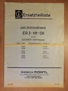 Ersatzteilliste-MORTL-Seiten-Maehwerk-ER3-HY-SK-Eicher-Schlepper-Ausgabe-1979
