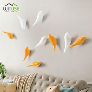 3D Bird Resin Hanger Cloth Hat Bag Hooks Wall Living Room Door Home Decor 6D8A