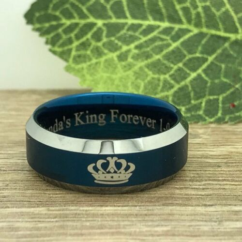 King /& Queen Ring Personalize His /& Hers Tungsten Rings,Two Tone Wedding Rings