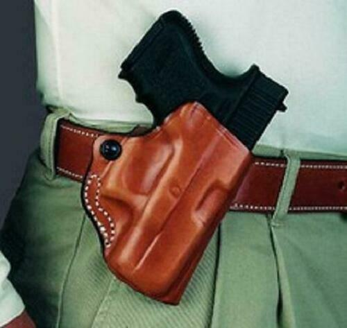 DeSantis 019BAH9Z0 019 S/&W Shield Mini Scabbard RH Black Leather Belt Holster