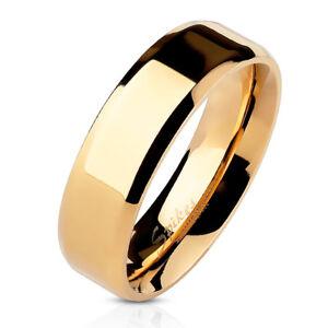 Anillo de acero inoxidable anillo de compromiso Rosegold nuevo talla 19 = 1,9 cm