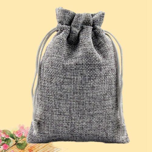 2x Fashion  Drawstring Linen Pouch Pendulum Bag Jewelry Bag Gift Candy Bag New