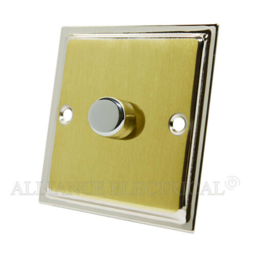 Slimline satin laiton chrome poli bord lumière LED 250W Variateur d/'intensité voie 2