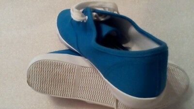 Próxima Talle 5 Azul Blanco Cordones Zapatillas De Lona Casual Wear usados limpios Listos