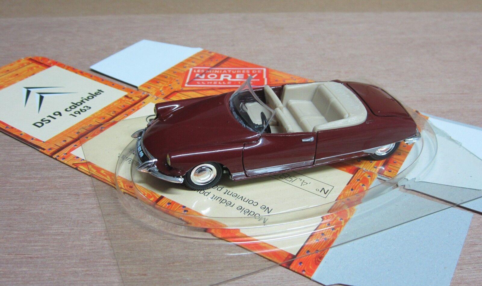 NOREV     Hachette 1 43 DS 19 Cabriolet 1963 + boite carton d20a31