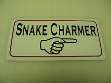 SNAKE CHARMER Metal Sign Boardwalk Carnival Arcade Pet Renaissance Fair Circus
