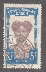 GABON-STAMP-48-5fr-HIGH-VALUE-1910-USED