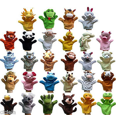 1Pcs Mixed Animal Finger Puppets Plush Cloth Doll Development Baby Hand Toy Kid