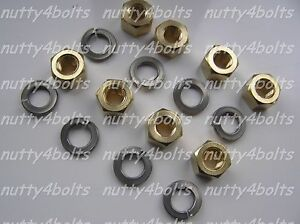 M10-X-1-25MM-EXHAUST-MANIFOLD-BRASS-NUTS-STAINLESS-WASHERS