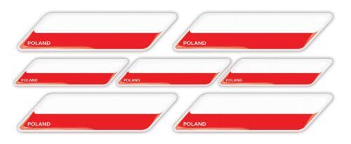 Poland Warsaw flag 3d domed emblem decal sticker BMW Ferrari Porsche VW AUDI