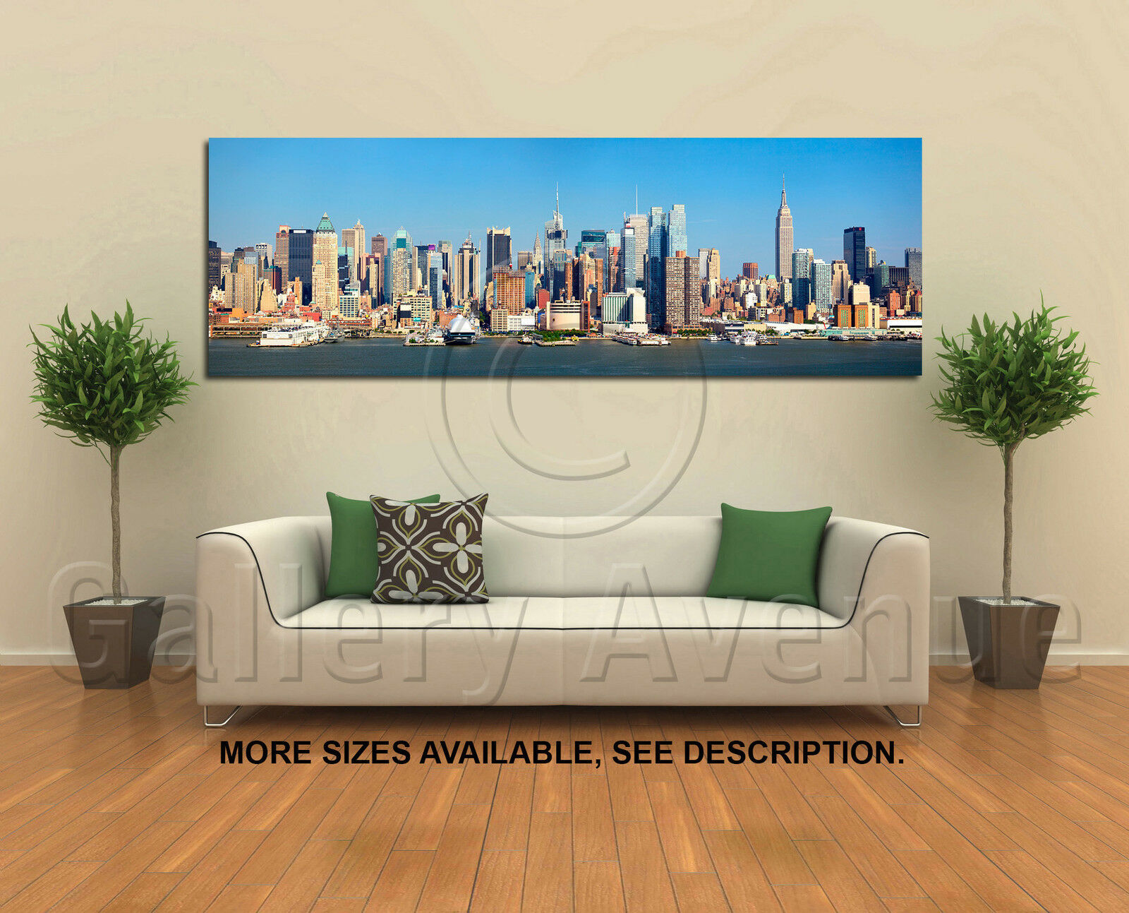wand kunst Canvas Picture drucken - New York Skyline 1, 3.1