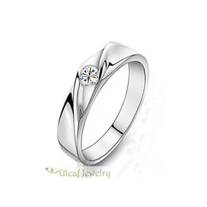 Unisex-S925-Sterling-Silver-Streamline-Super-Shining-CZ-Ring-Can-be-Couples-Ring