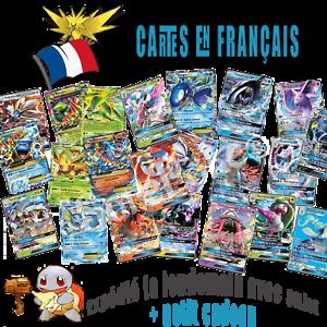 Lots-de-cartes-Pokemon-neuves-GX-MEGA-EX-ESCOUADE-brillantes-en-francais