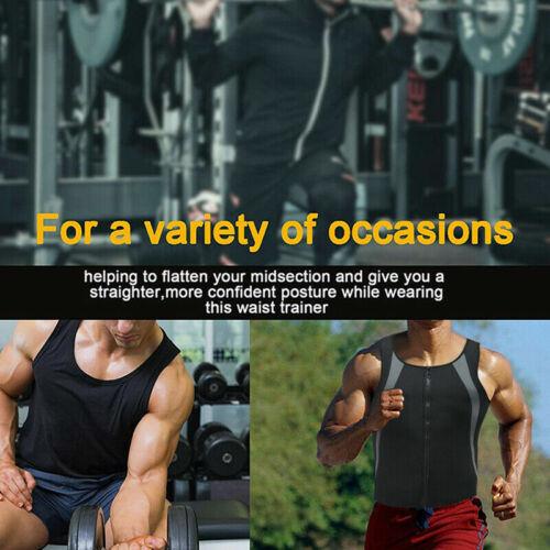 Men/'s Sweat Shaper Sauna Vest with Zipper Neoprene Sweat Vest Weightloss Shirt