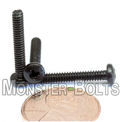 "10 #4-40 x 7//8/""  Phillips Pan Head Machine screws SAE Steel w Black Oxide"