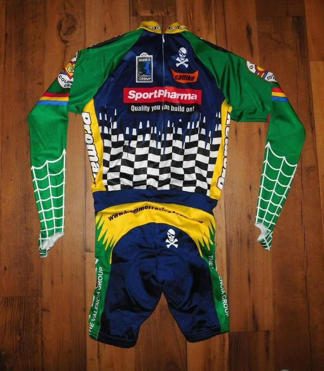 Primal Wear Sport Pharma Racing Team Full Cycling Suit Bib size L Longsleeve