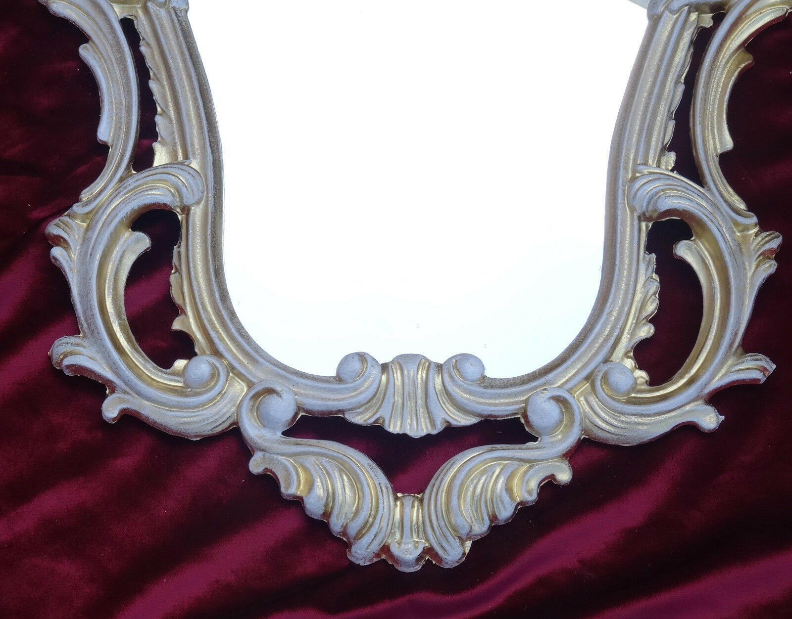 Espejos Espejo Barroco De Pared Antiguo Reproducción Negro Blanco Dualcolor 50x76 Arte Y Antigüedades