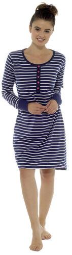 Womens Ladies Night shirt dress Long or Short Sleeve Nightie Loungewear Pyjamas