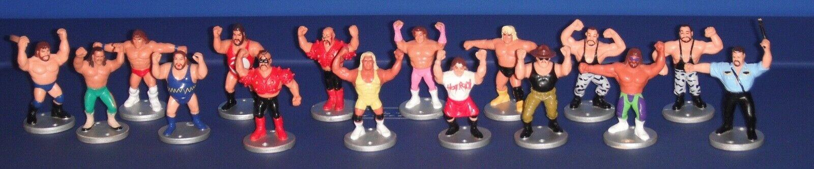 Hasbro WWF WWE 1990s Vintage RUMBLE PVC  Wrestling 2.5  Mini cifras Lot of 16  consegna veloce e spedizione gratuita per tutti gli ordini