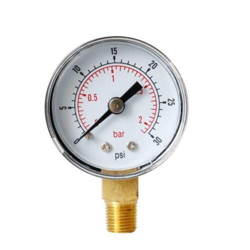 "Pressure Gauge 40mm Dial 1//8\/"" BSPT Vertical 15,30,60.100,160 200 300 PSI /& Bar"