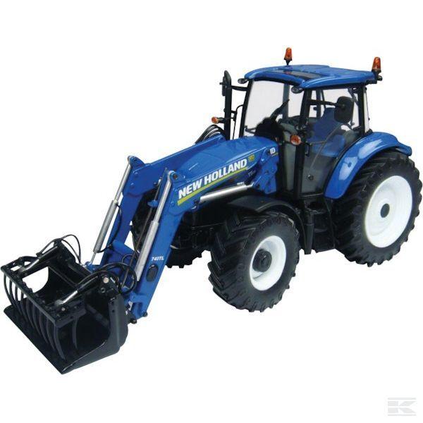 en promociones de estadios Universal Hobbies New Holland T5.115 Tractor Tractor Tractor & Cochegador 1 32 Escala Modelo Juguete De Regalo  tienda de ventas outlet