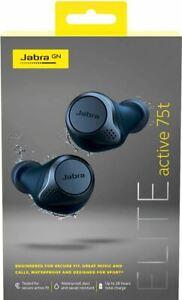 Jabra Elite Active 75t True Wireless Bluetooth Earbuds Navy 615822012621 Ebay