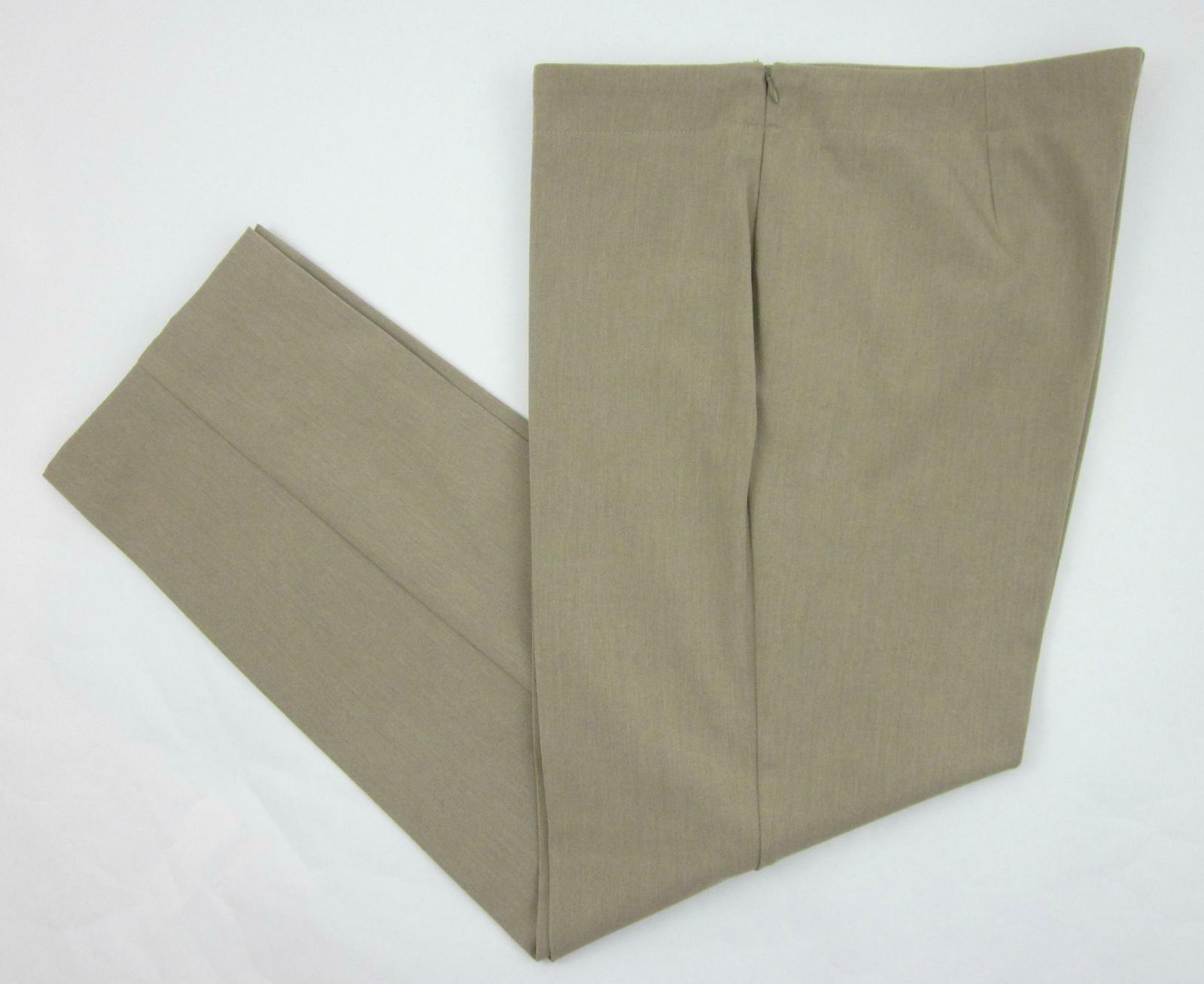 Talbots Size 16 Classic Side Zip Pants Camel Khaki Twill MINT