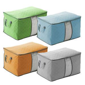 Large-Clothes-Quilt-Blanket-Zipper-Storage-Box-Organizer-Foldable-Non-Woven-Bag