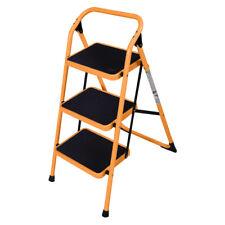 New 3 Step Ladder Folding Stool Heavy Duty 330lbs Capacity Lightweight Yellow