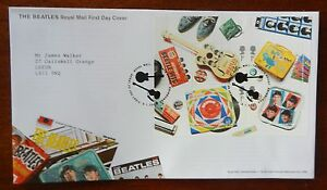 The-Beatles-Royal-Mail-Miniature-Sheet-2007-First-Day-Cover-Postmark-Liverpool