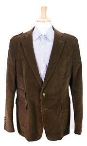 GUCCI-Dark-Brown-Cotton-Corduroy-Military-Patch-Pocket-Blazer-Jacket-48R