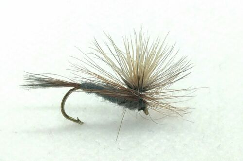 Details about  /3 Adams PARACHUTE Dry Flies Emerger MAYFLY Para Trout Fly Fishing Size 10,12,14