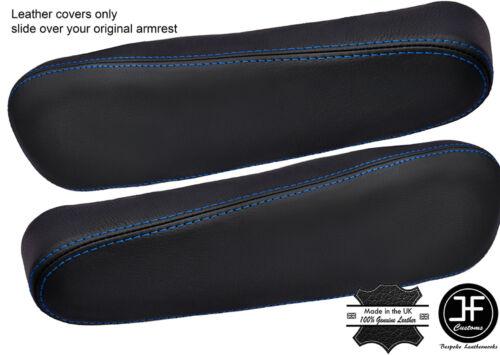 BLUE STITCH 2X SEAT ARMREST LEATHER COVERS FITS HONDA CRV CR-V 2007-2011