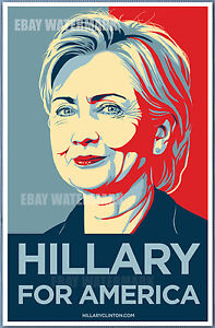 hillary clinton for america 2016 official campaign poster 11 x 17 ebay