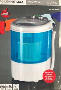 Cleanmaxx Mini-Waschmaschine Ideal zum Waschen unterwegs Max. 3kg Wäsche Neu