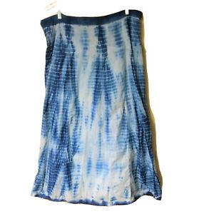 Chico-039-s-1-Size-Medium-8-10-Tie-Dye-MAXI-SKIRT-Boho-Peasant-Skirt-Lined-Flowy