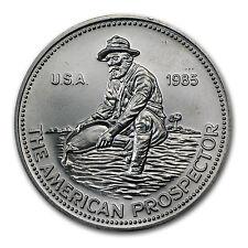 1985 1 oz Engelhard Prospector Silver Round - Eagle