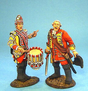 Details about British 28th Regiment of Foot Officer & Drummer - #QB-26  French & Indian War