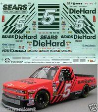 NASCAR DECAL # 5 SEARS DIEHARD 1996 CHEVY CRAFTSMAN TRUCK DARRELL WALTRIP SLIXX