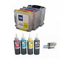 4 pk NON-OEM Refillable Ink Cartridges For HP 88 88XL K5400 K550 plus 400ml ink