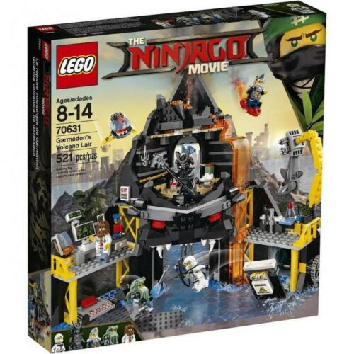 NINJAGO MOVIE LEGO GARMADONS VOLCANO LAIR 70631 521 pcs Kids Toy Gift Building