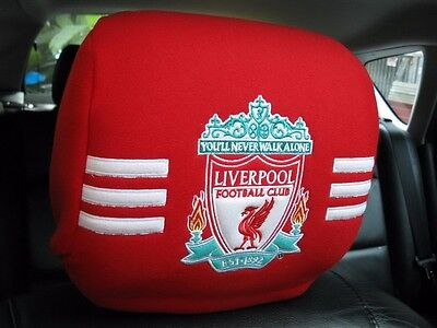 Liverpool Football Club Car Accessory : 1 piece Head Rest Cover Head Seat Cover
