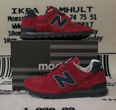 Size 9 New Balance 574 Gym Red Navy