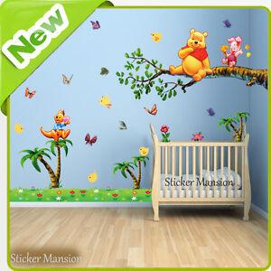 Winnie The Pooh Adesivi Da Parete Animale Giungla Baby Nursery ...