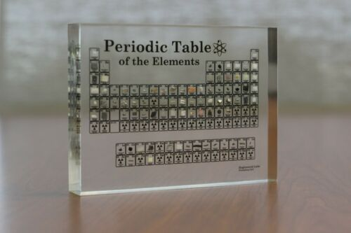 Heritage Periodic Table Display of Real ElementsAcrylic Element Collection