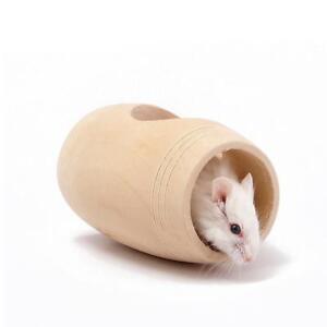 Das Bild Wird Geladen Mini Holz Fass Haus Spielrohr Spielzeug Fuer Hamster