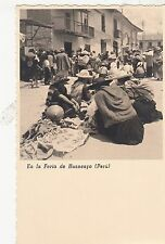 B81674 en la feria de huancayo  folklore types  peru front/back image