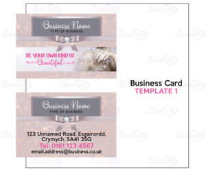 Business Card Graphic Design Template Nail Bar Hair Beauty Salon